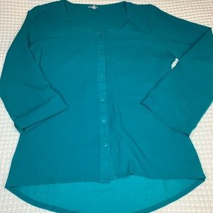 Teal Charlotte Russe blouse